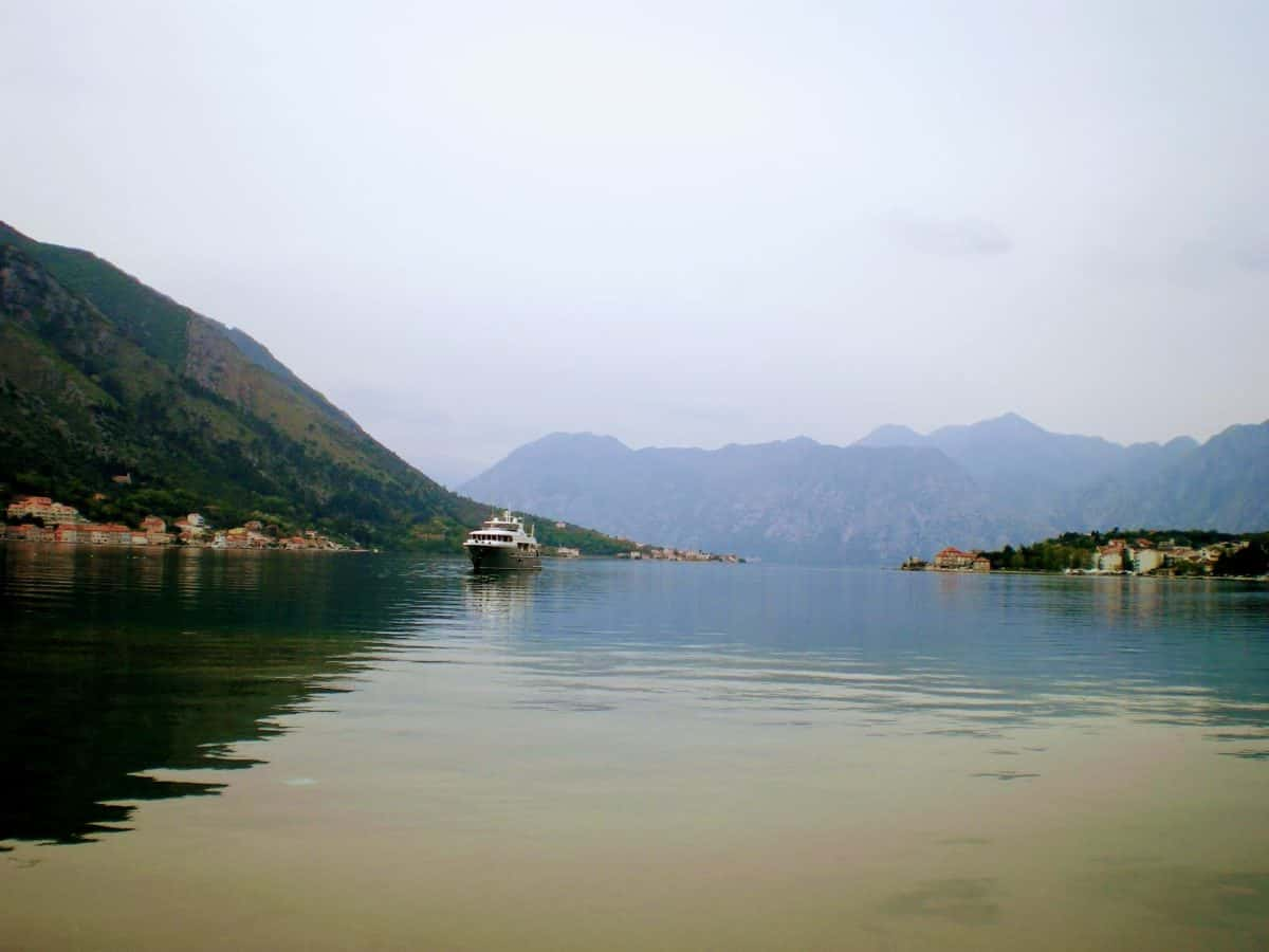 kotor montenegro bay ship