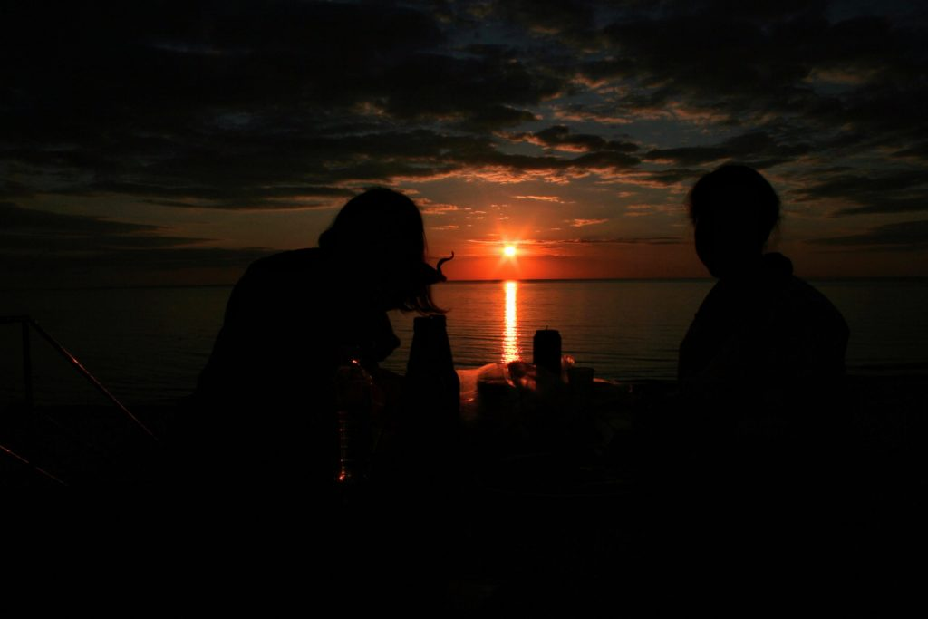 Sunset picnic in Curonian Spit