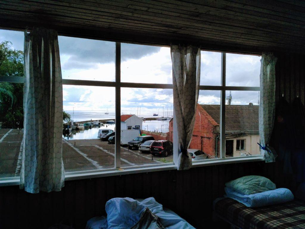 View from the 10-bed dorm at Zunda, Nida