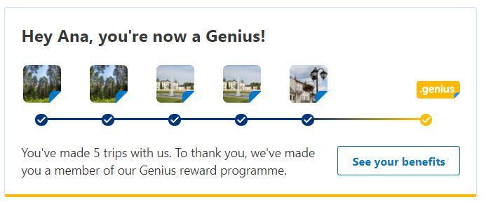 Booking.com genius status