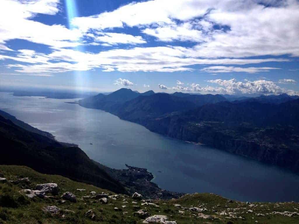 Monte Baldo in Malcesine, Lake Garda, Italy