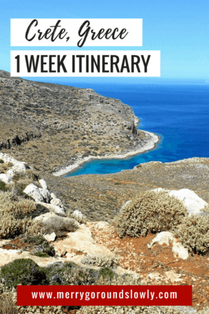 West Crete One week Itinerary