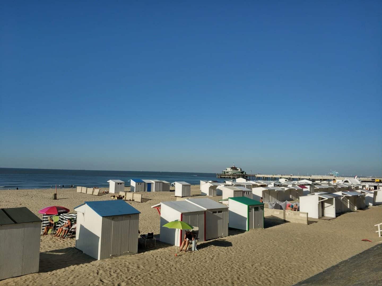 Belgian coast in Autumn, Blankenberge